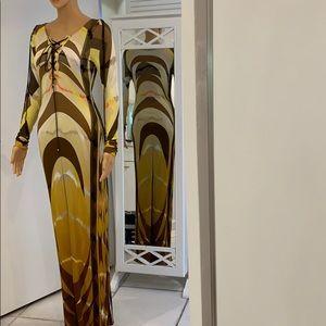 Emilio Pucci runway luxury gown dress.  Excellent